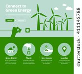 green energy supplier. connect... | Shutterstock .eps vector #411143788