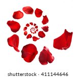 Flower Petals Spiral Isolated...