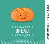 fun cartoon bread. bakery and...   Shutterstock .eps vector #411145366