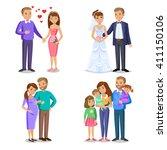 happy family vector... | Shutterstock .eps vector #411150106