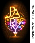 let s start party design mock... | Shutterstock .eps vector #411157702