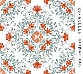 seamless oriental pattern.... | Shutterstock . vector #411159742