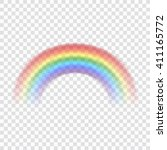 rainbow icon. shape arch... | Shutterstock .eps vector #411165772