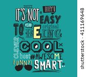text awesome  funny  cool... | Shutterstock .eps vector #411169648