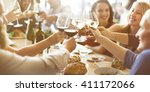 brunch choice crowd dining food ... | Shutterstock . vector #411172066