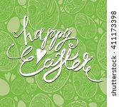 vector illustration of happy... | Shutterstock .eps vector #411173398