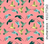 vector pattern  vector birds ... | Shutterstock .eps vector #411177262