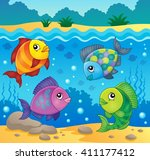 fish topic image 4   eps10... | Shutterstock .eps vector #411177412