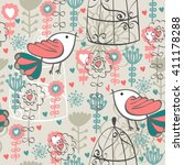 Cute Seamless Pattern With ...