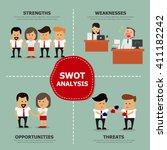 swot analysis  vector... | Shutterstock .eps vector #411182242