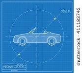 vector icon of cabriolet.... | Shutterstock .eps vector #411183742