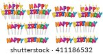vector illustration set of... | Shutterstock .eps vector #411186532