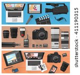 photography  video making and... | Shutterstock .eps vector #411190315