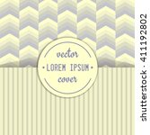 vintage cover design. vector... | Shutterstock .eps vector #411192802