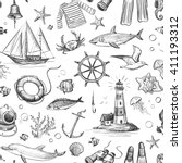 collection of vector graphics... | Shutterstock .eps vector #411193312