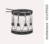 vintage retro bass drum with... | Shutterstock .eps vector #411195325