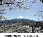 fuji mountain  japan | Shutterstock . vector #411203446