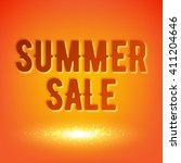 summer sale background vector... | Shutterstock .eps vector #411204646
