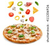 Tasty Pizza With Vegetables An...