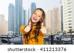 people  gesture  style and... | Shutterstock . vector #411213376