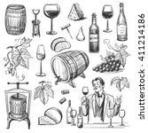 collection of vector images of... | Shutterstock .eps vector #411214186