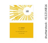 Yellow Business Card With...