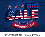 memorial day. big sale vector... | Shutterstock .eps vector #411219412