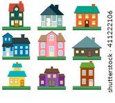 Houses Vector Icons Set....