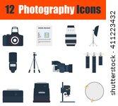 flat design photography icon...