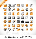 49 glossy web icons and design... | Shutterstock .eps vector #41123203