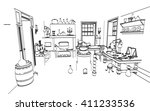 2d cartoon illustration of... | Shutterstock . vector #411233536