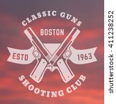 classic guns print  logo with... | Shutterstock .eps vector #411238252