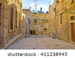 The Street Of The Old City Wit...