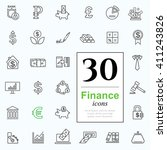 set ot finance icons for web or ... | Shutterstock .eps vector #411243826