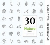 set of nature icons for web or... | Shutterstock .eps vector #411244546