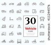 set of transport icons for web... | Shutterstock .eps vector #411244576