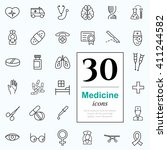 set of medicine icons for web... | Shutterstock .eps vector #411244582