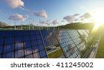 3d rendering of wind power and... | Shutterstock . vector #411245002