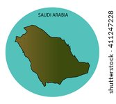 saudi arabia map | Shutterstock . vector #411247228