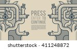 behind reality. mechanical tree ... | Shutterstock .eps vector #411248872