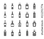 icon set   bottle and beverage | Shutterstock .eps vector #411251776