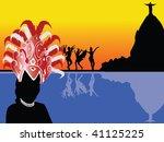 rio de janeiro scenery vector | Shutterstock .eps vector #41125225