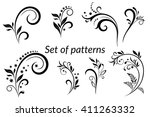 set of vintage calligraphic... | Shutterstock .eps vector #411263332