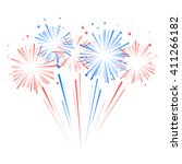 fireworks and stars in national ... | Shutterstock .eps vector #411266182