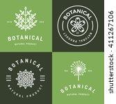 set of badges  banner  labels... | Shutterstock .eps vector #411267106