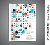 abstract modern template book... | Shutterstock .eps vector #411278188