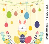 happy easter day | Shutterstock .eps vector #411279166