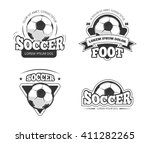 soccer league club vector...