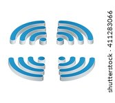 wi fi isometric icon. set of... | Shutterstock .eps vector #411283066