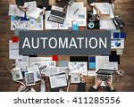 automation production system... | Shutterstock . vector #411285556